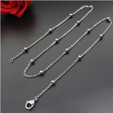 (Wholesale)316 Stainless Steel 1.3mm Chain Necklace - SJ2