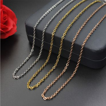 (Wholesale)316 Stainless Steel 1.5mm Rolo Chain Necklace - SJ3