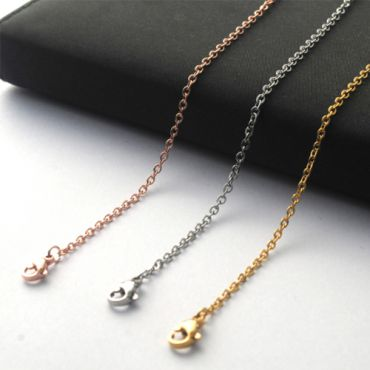 (Wholesale)316 Stainless Steel 1.6mm Rolo Chain Necklace - SJ4
