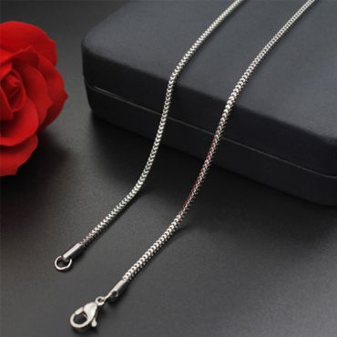 (Wholesale)316 Stainless Steel 1.7mm Chain Necklace - SJ6