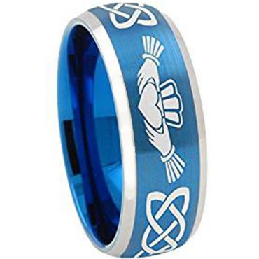 (Wholesale)Tungsten Carbide Mo Anam Cara Celtic Ring - TG4334