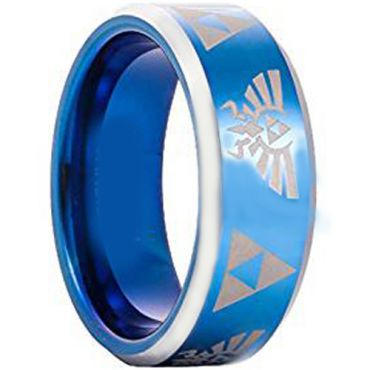 (Wholesale)Tungsten Carbide Legend of Zelda Ring - TG3396AA