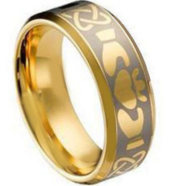 (Wholesale)Tungsten Carbide Mo Anam Cara Ring - TG1495