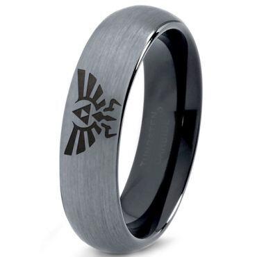 (Wholesale)Tungsten Carbide Legend of Zelda Ring-167