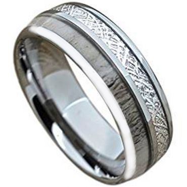 (Wholesale)Tungsten Carbide Antler Imitate Meteorite Ring-1820AA
