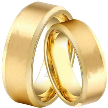 (Wholesale)Tungsten Carbide Beveled Edges Ring - TG1829