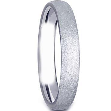 (Wholesale)Tungsten Carbide Sandblasted Ring - TG1968A