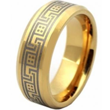 (Wholesale)Tungsten Carbide Beveled Edges Ring - TG2828AA
