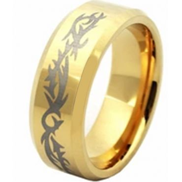 (Wholesale)Tungsten Carbide Beveled Edges Ring - TG2134AA