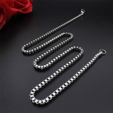 (Wholesale)316 Stainless Steel 2.0mm Chain Necklace - SJ10