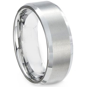 (Wholesale)Tungsten Carbide Beveled Edges Ring-200