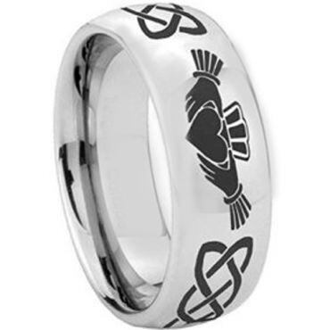 (Wholesale)Tungsten Carbide Mo Anam Cara Celtic Ring-2346