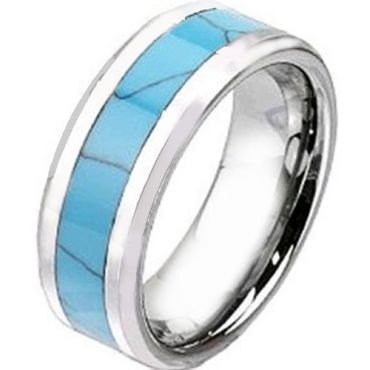 (Wholesale)Tungsten Carbide Imitate Turquoise Ring-2438