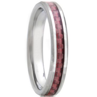 (Wholesale)Tungsten Carbide Ring With Carbon Fiber - TG2946