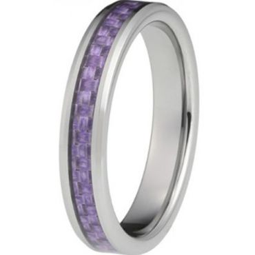 (Wholesale)Tungsten Carbide Ring With Carbon Fiber - TG2974