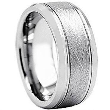 (Wholesale)Tungsten Carbide Sandblasted Ring - TG2425AA