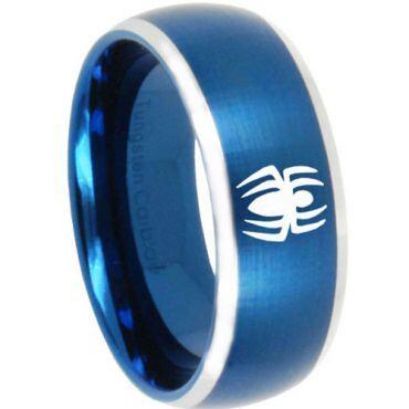 (Wholesale)Tungsten Carbide Beveled Edges Spider Ring - TG3161