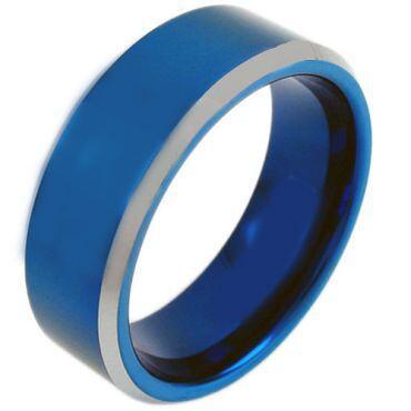 (Wholesale)Tungsten Carbide Beveled Edges Ring - TG3809