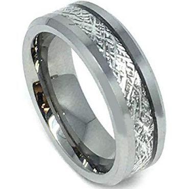(Wholesale)Tungsten Carbide Imitate Meteorite Ring-4190