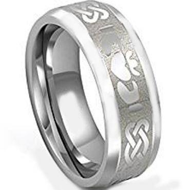(Wholesale)Tungsten Carbide Mo Anam Cara Celtic Ring - TG3534