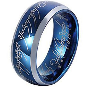 (Wholesale)Tungsten Carbide Lord of the Ring Ring - TG4400