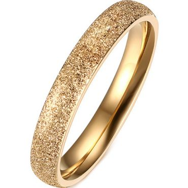 (Wholesale)Tungsten Carbide Sandblasted Ring - TG372AA
