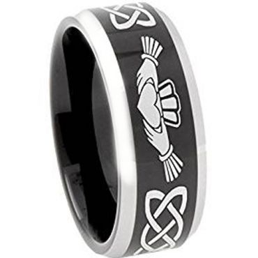 (Wholesale)Tungsten Carbide Mo Anam Cara Ring - TG374B