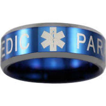 (Wholesale)Tungsten Carbide Medic Alert Ring - TG4550