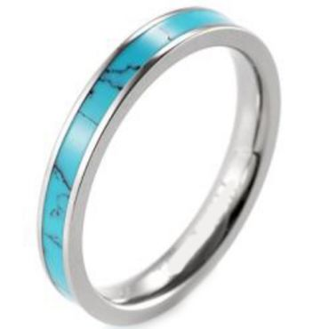 (Wholesale)Tungsten Carbide Imitate Opal Ring - TG3939