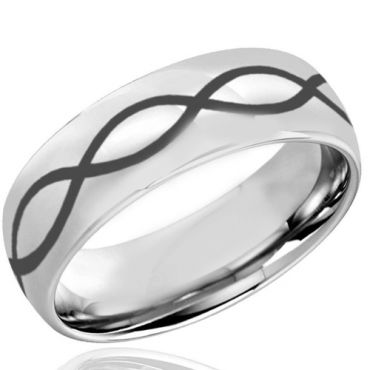 (Wholesale)Tungsten Carbide Dome Infinity Ring - TG4036