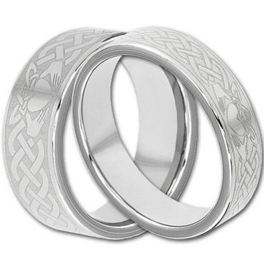 (Wholesale)Tungsten Carbide Mo Anam Cara Ring - TG4292