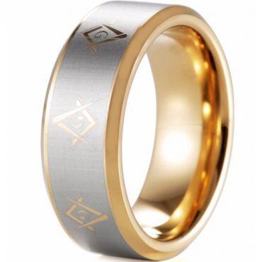 (Wholesale)Tungsten Carbide Legend Of Zelda Ring - TG4348