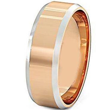 (Wholesale)Tungsten Carbide Beveled Edges Ring - TG4387