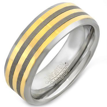 (Wholesale)Tungsten Carbide Beveled Edges Ring - 4471
