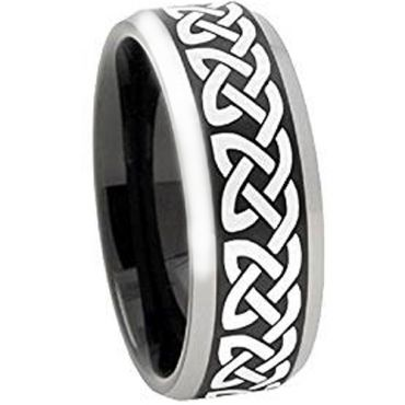 (Wholesale)Tungsten Carbide Celtic Ring - TG4496AA