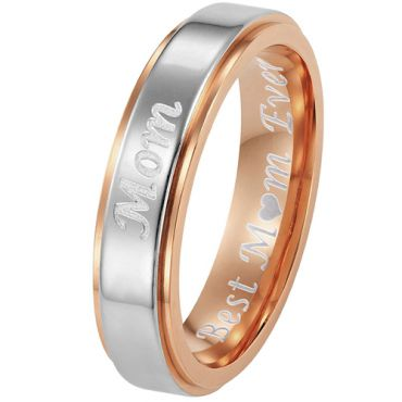 (Wholesale)Tungsten Carbide Ring With Custom Engraving - TG4506A