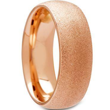 (Wholesale)Tungsten Carbide Sandblasted Ring - TG4507A