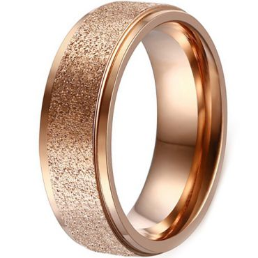 (Wholesale)Tungsten Carbide Sandblasted Ring - TG4508A