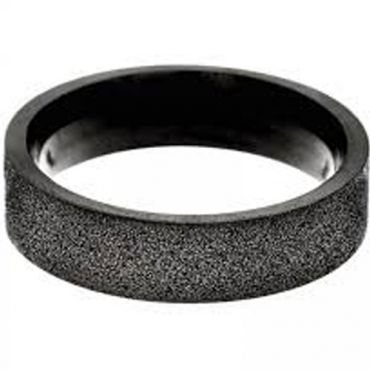(Wholesale)Black Tungsten Carbide Sandblasted Ring - TG4517A