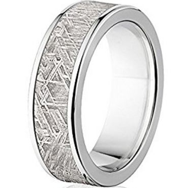 (Wholesale)Tungsten Carbide Imitate Meteorite Ring-4568
