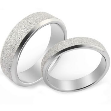 (Wholesale)Tungsten Carbide Sandblasted Ring - TG4589