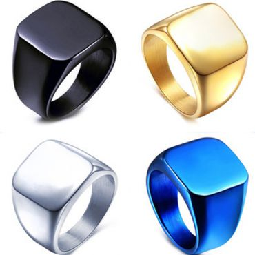 (Wholesale)Tungsten Carbide Signet Ring - TG4592