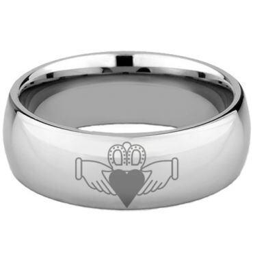(Wholesale)Tungsten Carbide Dome Mo Anam Cara Ring - TG4658