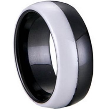 (Wholesale)Black White Ceramic Ring - TG1152