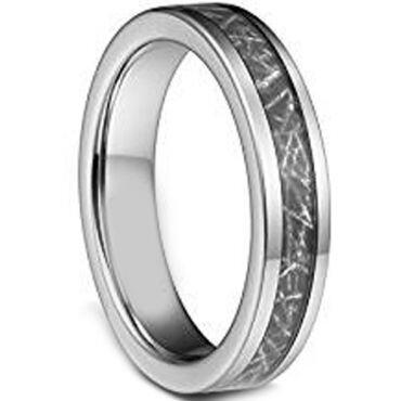 (Wholesale)Tungsten Carbide Imitate Meteorite Ring-1206AA