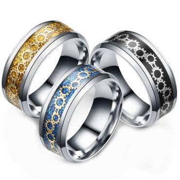 (Wholesale)Tungsten Carbide Carbon Fiber Ring - TG1289AA