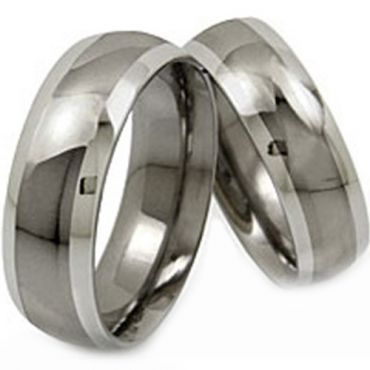 (Wholesale)Tungsten Carbide Beveled Edges Ring - TG1357