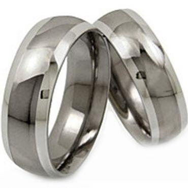 (Wholesale)Tungsten Carbide Beveled Edges Ring - TG1357