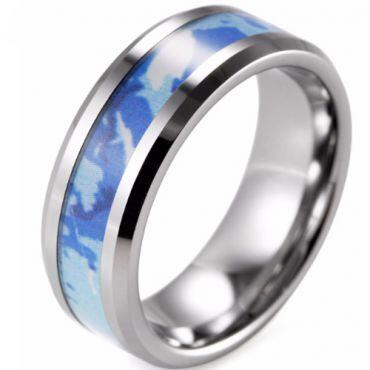 (Wholesale)Tungsten Carbide Camo Ring - TG1573