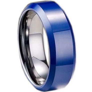 (Wholesale)Tungsten Carbide Beveled Edges Ring - TG1631